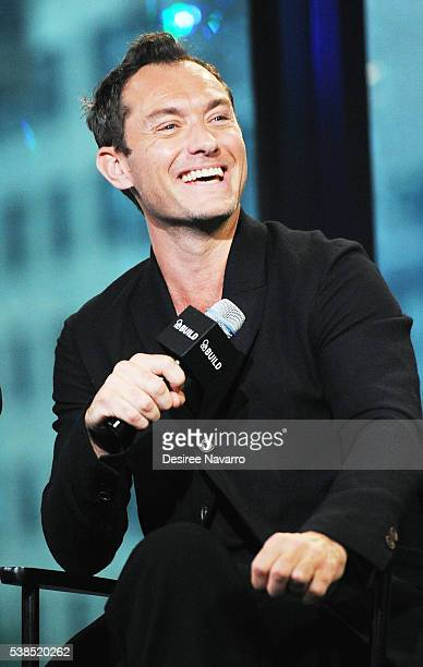 Actor Jude Law attends AOL Build Speaker Series to discuss the film 'Genius' at AOL Studios In New York on June 6 2016 in New York City