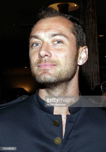 Actor Jude Law attends Scott Morrison and Ben Watts limited edition skateboard series unveiling at 3x1 on April 5 2012 in New York City