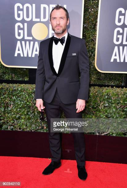 Actor Jude Law attends The 75th Annual Golden Globe Awards at The Beverly Hilton Hotel on January 7 2018 in Beverly Hills California