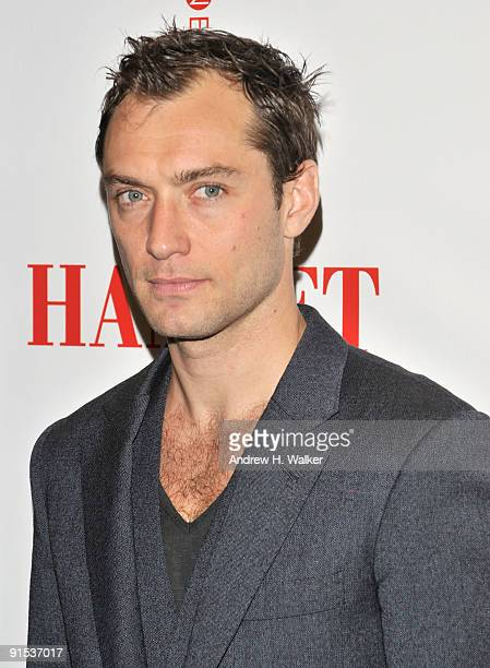 Actor Jude Law attends the after party for the Broadway opening night of Hamlet at Gotham Hall on October 6 2009 in New York City