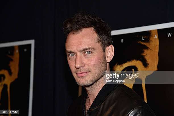 Actor Jude Law attends the Black Sea New York screening at Landmark Sunshine Cinema on January 21 2015 in New York City
