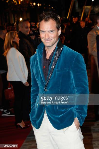 Actor Jude Law attends the Fantastic Beasts The Crimes of Grindelwald World Premiere at UGC Cine Cite Bercy on November 8 2018 in Paris France
