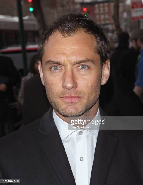 Actor Jude Law attends the Fox Searchlight Pictures' 'Dom Hemingway' screening hosted by The Cinema Society And Links Of London on March 27 2014 in...