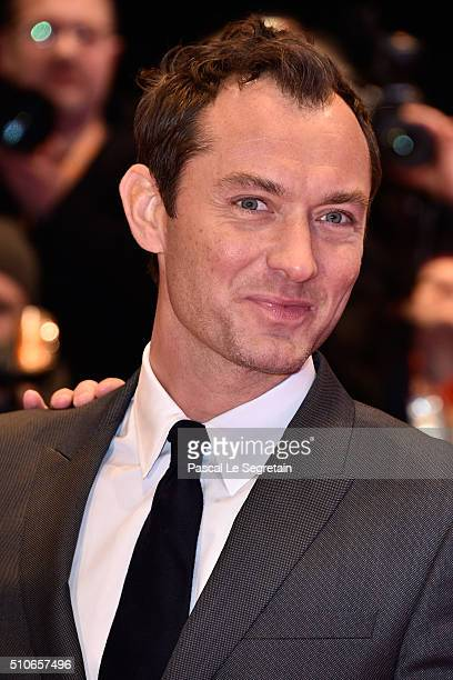 Actor Jude Law attends the 'Genius' premiere during the 66th Berlinale International Film Festival Berlin at Berlinale Palace on February 16 2016 in...