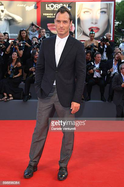 Actor Jude Law attends the premiere of 'The Young Pope' during the 73rd Venice Film Festival at on September 3 2016 in Venice Italy