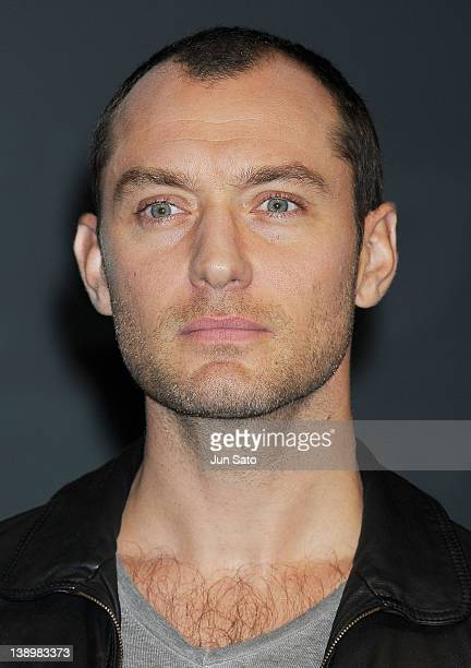 Actor Jude Law attends the 'Sherlock Holmes A Game of Shadows' press conference at Park Hyatt Tokyo on February 15 2012 in Tokyo Japan The film will...
