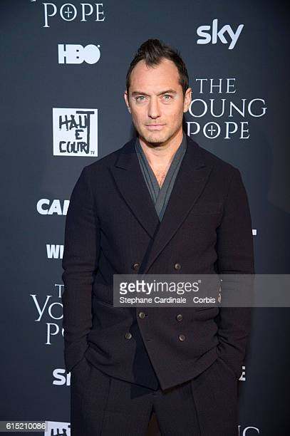 Actor Jude Law attends the 'The Young Pope' Paris Premiere at La Cinematheque on October 17 2016 in Paris France