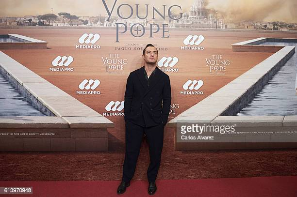 Actor Jude Law attends 'The Young Pope' premiere at the Palafox cinema on October 11, 2016 in Madrid, Spain.