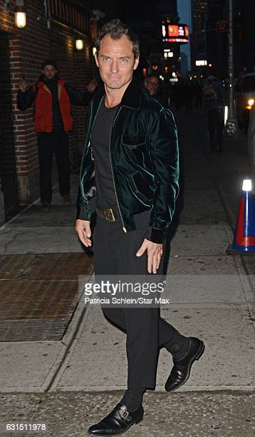 Actor Jude Law is seen on January 11 2017 in New York City