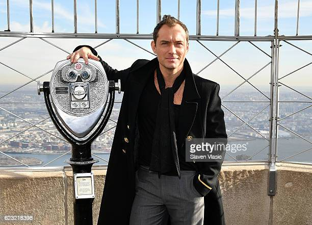 Actor Jude Law lights the Empire State Building in honour of 'Only Make Believe' at The Empire State Building on November 14 2016 in New York City