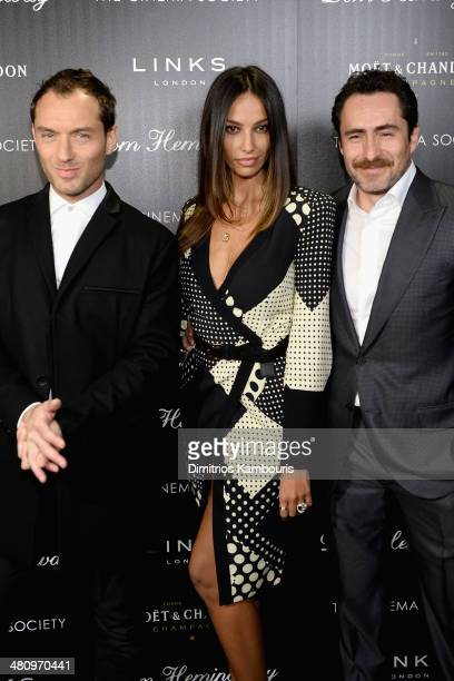 Actor Jude Law Madalina Diana Ghenea and Demian Bichir attend the Fox Searchlight Pictures' 'Dom Hemingway' screening hosted by The Cinema Society...