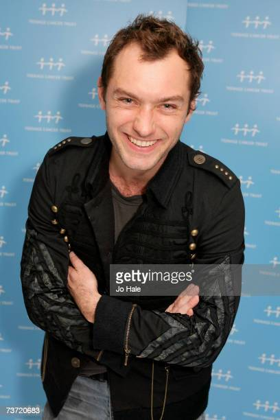 Actor Jude Law poses backstage on the second night of a series of concerts and events in aid of Teenage Cancer Trust organised by charity Patron...