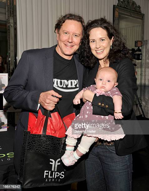 Actor Judge Reinhold Amy Reinhold and Haley Reinhold attend the Flips Audio MTV Awards Secret Room gifting suite at the SLS Hotel on April 12 2013 in...