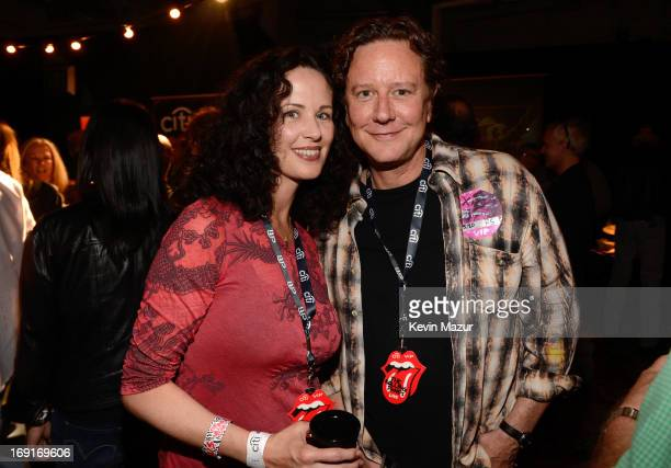 Actor Judge Reinhold and Amy Reinhold in the CITI VIP room at the Rolling Stones '50 Counting' tour at Staples Center on May 20 2013 in Los Angeles...