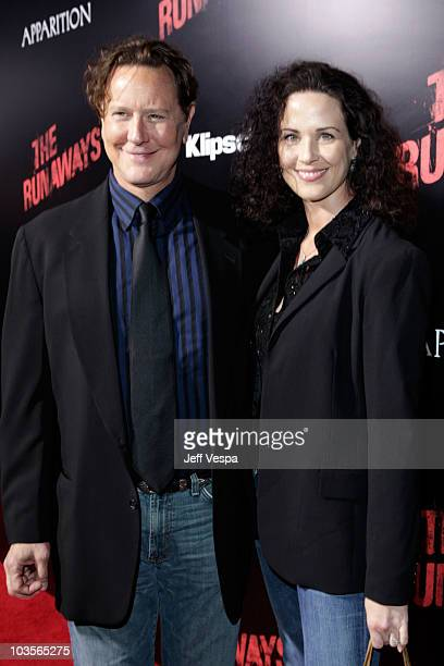Actor Judge Reinhold and wife Amy Reinhold arrive at the Los Angeles Premiere of The Runaways presented by Apparition and KLIPSCH at ArcLight Cinemas...