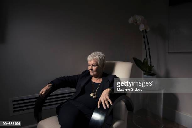 Actor Judi Dench is photographed for Los Angeles Times on October 22, 2013 in London, England.
