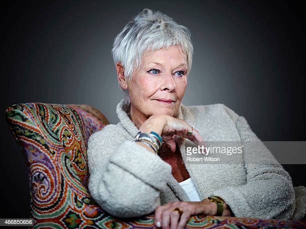 Actor Judi Dench is photographed for the Times on November 13 2014 in London England