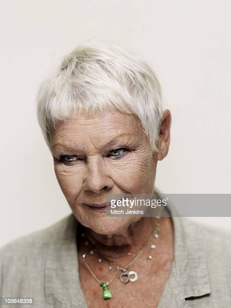 Actor Judi Dench poses for a portrait shoot in London on July 8 2010