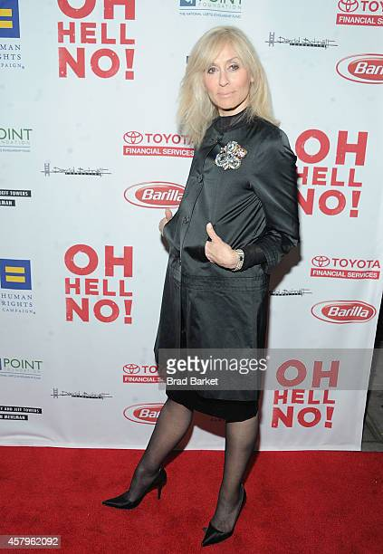 Actor Judith Light attends 'Oh Hell No' Opening Night arrivals at New World Stages on October 27 2014 in New York City