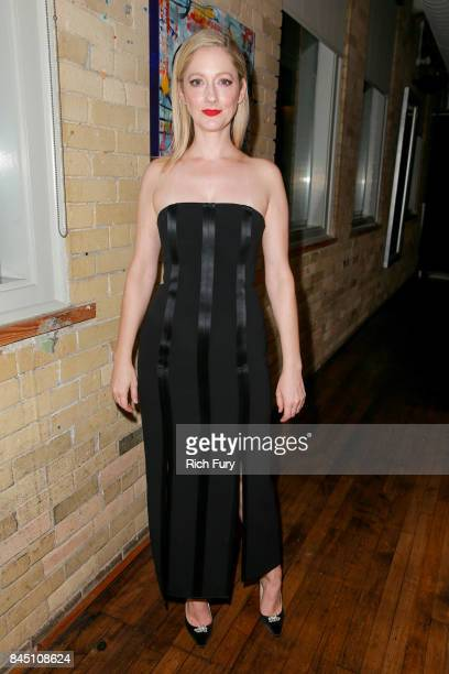 Actor Judy Greer attends the Public Schooled premiere after party at The Spoke Club on September 9 2017 in Toronto Canada