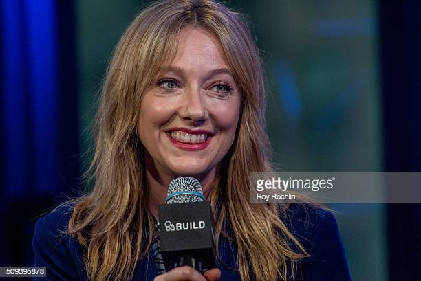Actor Judy Greer discusses her partnership with the LACTAID No More Dairy Envy campaign at AOL Studios In New York on February 10, 2016 in New York...