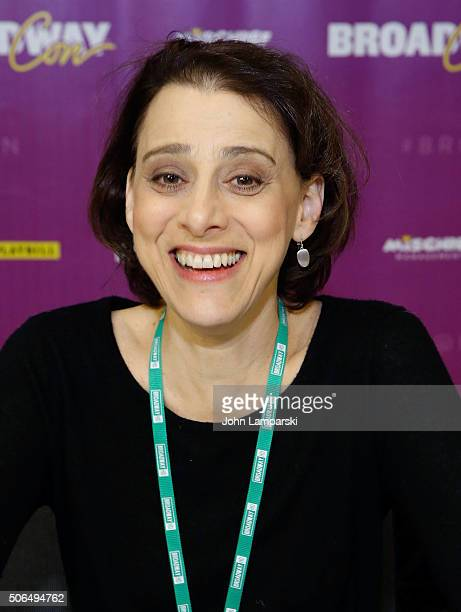 Actor Judy Kuhn attends the BroadwayCon 2016 at the Hilton Midtown on January 23 2016 in New York City