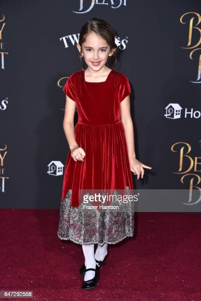 Actor Julia Butters attends Disney's Beauty and the Beast premiere at El Capitan Theatre on March 2 2017 in Los Angeles California
