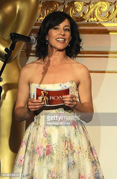 Actor Julia Cencig speaks on stage during the ROMY 2015 Academy Award at Hofburg Vienna on April 23 2015 in Vienna Austria