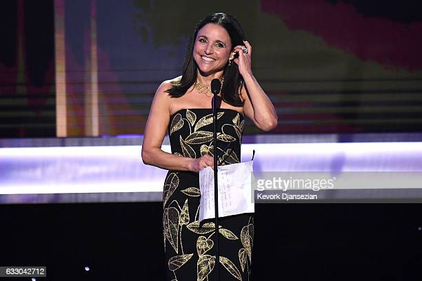 Actor Julia Louis-Dreyfus, accepts the award for Best Femal Actor in a Comedy Series for Veep, onstage during the 23rd Annual Screen Actors Guild...