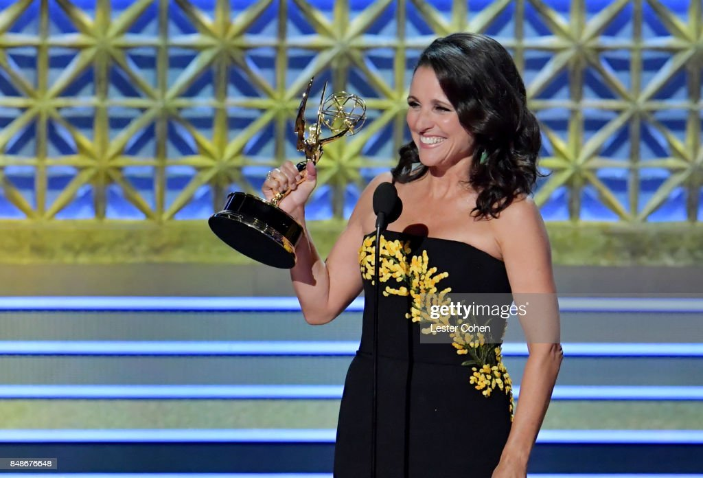 Actor Julia Louis-Dreyfus accepts the Outstanding Lead Actress in a Comedy Series for 'Veep' onstage during the 69th Annual Primetime Emmy Awards at Microsoft Theater on September 17, 2017 in Los Angeles, California.