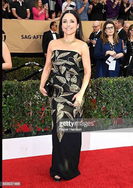 Actor Julia LouisDreyfus attends The 23rd Annual Screen Actors Guild Awards at The Shrine Auditorium on January 29 2017 in Los Angeles California...