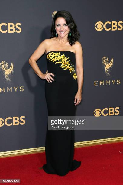 Actor Julia Louis-Dreyfus attends the 69th Annual Primetime Emmy Awards - Arrivals at Microsoft Theater on September 17, 2017 in Los Angeles,...