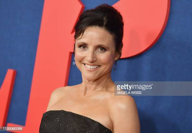 US actor Julia LouisDreyfus attends the premiere of the seventh and final season of HBO's Veep at Alice Tully Hall at the Lincoln Center in New York...