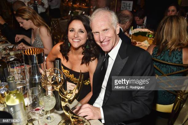 Actor Julia LouisDreyfus winner of the awards for Outstanding Comedy Series and Outstanding Lead Actress in a Comedy Series for 'Veep' and Brad Hall...