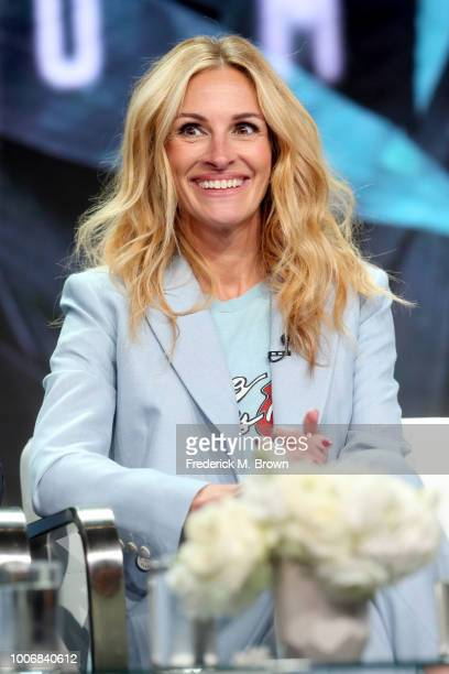 Actor Julia Roberts of 'Homecoming' speaks onstage during the Amazon Studios portion of the Summer 2018 TCA Press Tour at The Beverly Hilton Hotel on...