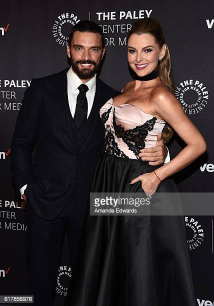 Actor Julian Gil and actress Marjorie de Sousa arrive at The Paley Center for Media's Hollywood Tribute to Hispanic Achievements in Television event...