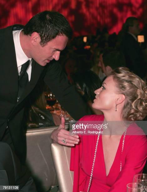 Actor Julian McMahon and actress Yvonne Strahovski attend the G'DAY USA Australiacom Black Tie Gala held at the Hollywood and Highland Grand Ballroom...