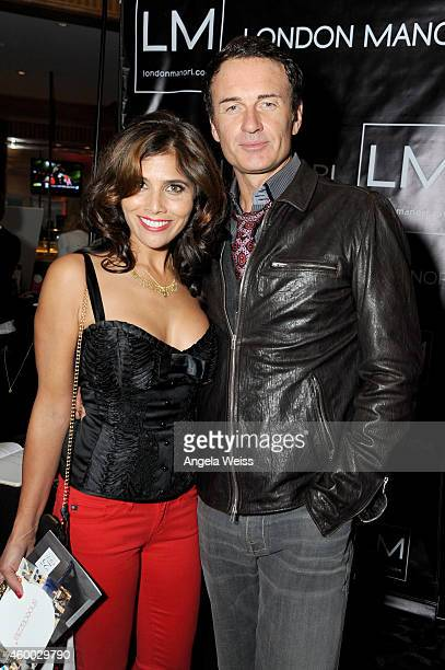 Actor Julian McMahon and Kelly Paniagua attend KIIS FM's Jingle Ball 2014 powered by LINE gifting lounge at Staples Center on December 5 2014 in Los...