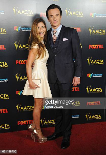 Actor Julian McMahon and wife Kelly Paniagua arrive at the 6th AACTA International Awards at Avalon Hollywood on January 6 2017 in Los Angeles...