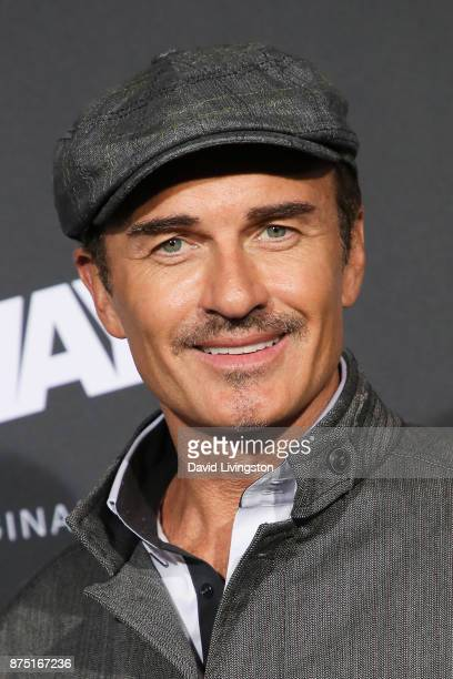 Actor Julian McMahon arrives at the premiere of Hulu's Marvel's Runaways at the Regency Bruin Theatre on November 16 2017 in Los Angeles California