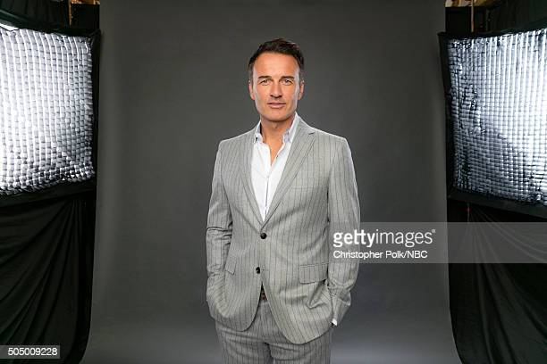 Actor Julian McMahon poses for a portrait during the NBCUniversal Press Day at The Langham Huntington Pasadena on January 14 2016 in Pasadena...