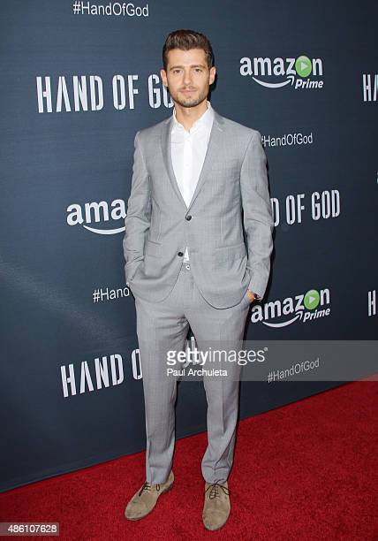 Actor Julian Morris attends the premiere of Amazon's series 'Hand Of God' at Ace Theater Downtown LA on August 19 2015 in Los Angeles California