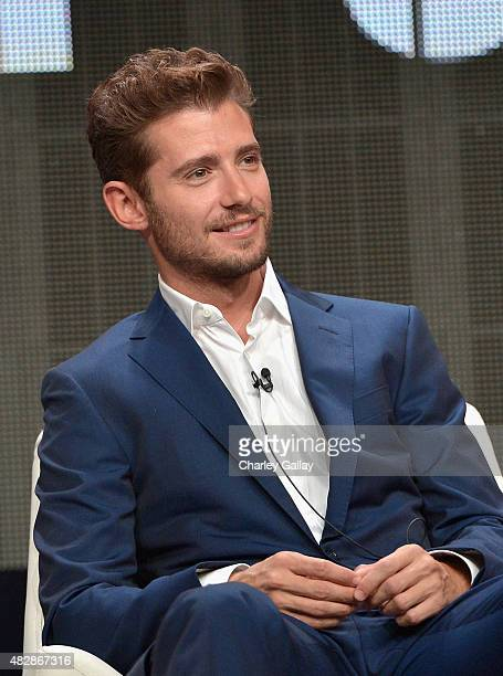 Actor Julian Morris speaks onstage during the 'Hand Of God' panel discussion at the Amazon Studios portion of the 2015 Summer TCA Tour on August 3...