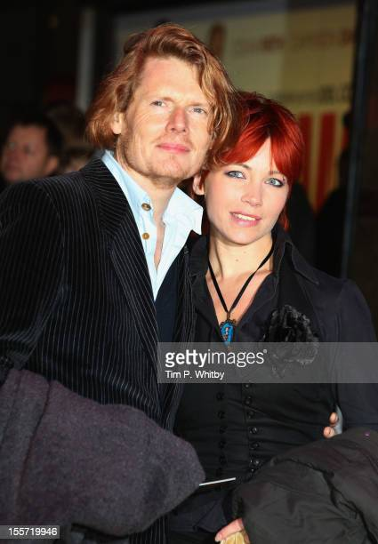 Actor Julian RhindTutt and guest attend the World Premiere of Gambit at Empire Leicester Square on November 7 2012 in London England