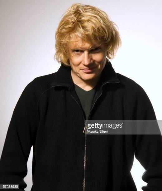 Actor Julian RhindTutt poses at a studio session at the National Theatre on January 31 2006 in LondonEngland