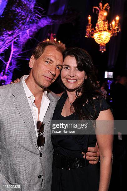 Actor Julian Sands and Julia Ormond pose at BritWeek's VIP launch reception of the 5th annual BritWeek at the British Consul General's residence on...