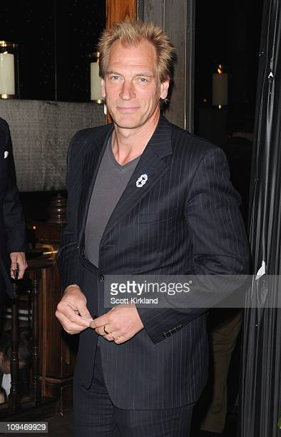 Actor Julian Sands arrives at the Chanel Charles Finch PreOscar Dinner Celebrating Fashion Film at Madeo Restaurant on February 26 2011 in Los...