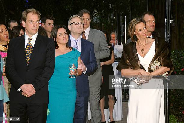 Actor Julian Sands Lindsay Brunnock actor Kenneth Branagh actress Janet McTeer and Joe Coleman at the GREAT British Film Reception to honor the...