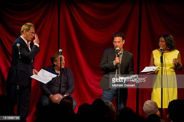 Actor Julian Sands producer Alan Zweibel actor Eugene Pack and actress Sherri Shepherd perform at Celebrity Autobiography Salutes The 2011 Tony...