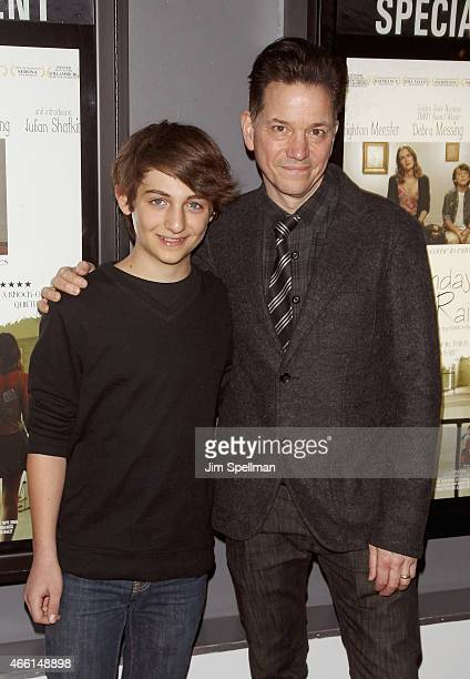 """Actor Julian Shatkin and director/actor Frank Whaley attend the """"Like Sunday, Like Rain"""" New York opening at Village East Cinema on March 13, 2015 in..."""